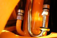 Particolare del circuito idraulico di un trattore Immagini Stock Libere da Diritti