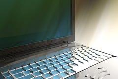 Particolare del computer portatile Fotografia Stock