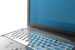 Particolare del computer portatile Immagini Stock Libere da Diritti