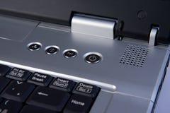 Particolare del computer portatile Immagini Stock