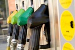 Particolare del distributore di benzina della benzina Fotografia Stock Libera da Diritti