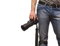 Particolare del fotografo fotografie stock