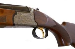 Particolare del fucile da caccia, isolato Fotografie Stock Libere da Diritti