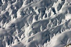Particolare del ghiacciaio di Aletsch Fotografie Stock