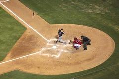 Particolare del gioco di baseball. fotografia stock