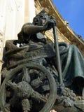 Particolare del monumento di Alfonso XII Fotografia Stock Libera da Diritti