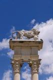 Particolare del monumento di Columbus, Siviglia Immagine Stock
