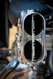 Particolare del motociclo Fotografie Stock