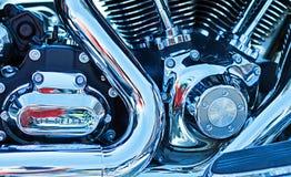 Particolare del motore della motocicletta Fotografia Stock Libera da Diritti