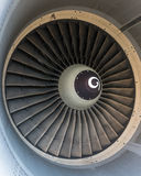 Particolare del motore a propulsione degli aerei Fotografia Stock Libera da Diritti