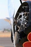Particolare del motore radiale Fotografia Stock