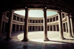 Particolare del Palacio de Carlos V Fotografie Stock Libere da Diritti