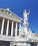 Particolare del Parlamento austriaco, Vienna immagini stock libere da diritti
