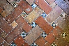 Particolare del pavimento di Alhambra Immagini Stock Libere da Diritti