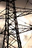 Particolare del pilone elettrico Fotografia Stock