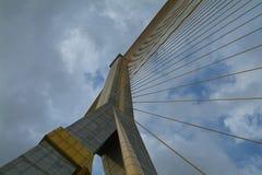 Particolare del ponte sospeso Immagini Stock