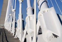 Particolare del ponte sospeso e del passaggio pedonale Fotografie Stock