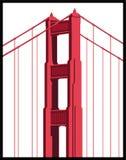 Particolare del ponticello di cancello dorato Immagini Stock Libere da Diritti