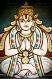 Particolare del portello di paradiso in Srirangam, posizione di yoga Immagini Stock Libere da Diritti