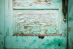 Particolare del portello di verde blu Fotografia Stock Libera da Diritti