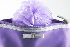 Particolare del sacchetto cosmetico Fotografia Stock Libera da Diritti
