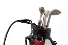 Particolare del sacchetto di golf miniatura Fotografia Stock