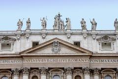 Particolare del San Pietro nella città di Vaticano Fotografia Stock Libera da Diritti