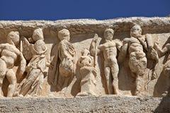 Particolare del tempiale del Hadrian in Ephesus Fotografia Stock