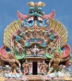 Particolare del tempiale di Meenakshi Maduray - in India Fotografia Stock