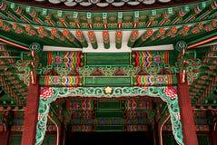 Particolare del tempiale nel Sud Corea di Seoul Immagini Stock Libere da Diritti