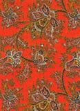 Particolare del tessuto di Paisley dell'annata Fotografie Stock