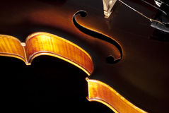 Particolare del violino Immagini Stock Libere da Diritti
