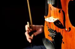 Particolare del violino Fotografie Stock Libere da Diritti