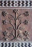 Particolare dell'albero di Taj Mahal Fotografia Stock Libera da Diritti