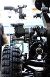 Particolare dell'artiglieria dell'obice Fotografia Stock Libera da Diritti