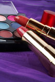 Particolare dell'assortimento dei makeups Fotografie Stock