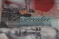 Particolare dell'australiano una nota dei venti dollari Fotografia Stock Libera da Diritti