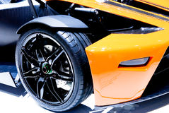 Particolare dell'automobile sportiva fotografia stock