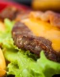 Particolare dell'hamburger immagine stock