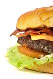 Particolare dell'hamburger immagini stock