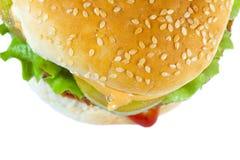 Particolare dell'hamburger Fotografia Stock