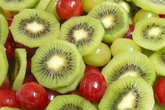 Particolare dell'insalata di frutta fotografia stock