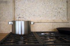 Particolare dell'interiore della cucina Fotografia Stock