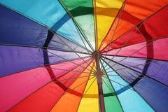 Particolare dell'ombrello variopinto Fotografia Stock