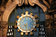 Particolare dell'orologio a Dresda immagine stock libera da diritti