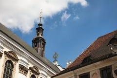 Particolare dell'università, Wroclaw, Polonia Fotografie Stock Libere da Diritti