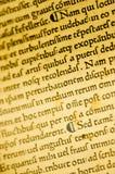 Particolare della bibbia di Gutenburg Fotografia Stock