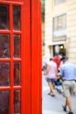 Particolare della cabina telefonica inglese a Malta Immagine Stock