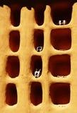Particolare della casa di Dogon Fotografie Stock
