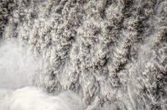 Particolare della cascata di Detifoss di acqua corrente selvaggia Immagine Stock